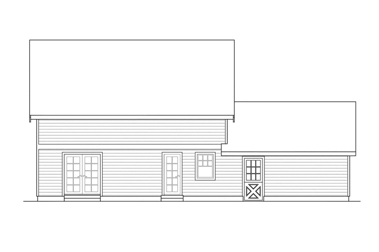 Bungalow Craftsman House Plan 69118 Rear Elevation