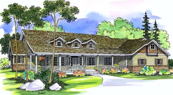 Bungalow Country House Plan 69119 Elevation