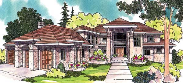 Mediterranean House Plan 69122 Elevation