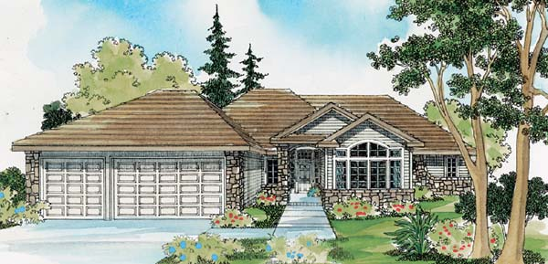 Traditional House Plan 69123 Elevation