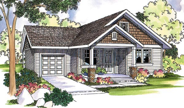 Country Craftsman Farmhouse Traditional House Plan 69124 Elevation