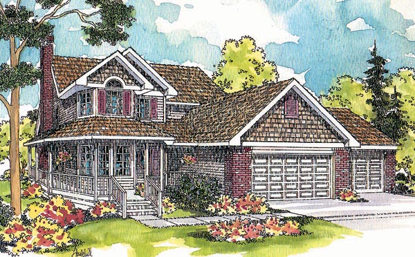 Country Craftsman Farmhouse House Plan 69125 Elevation