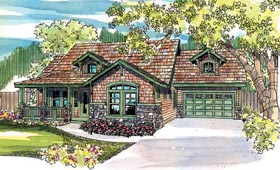 Country , Craftsman , Traditional House Plan 69129 with 3 Beds, 3 Baths, 2 Car Garage Elevation