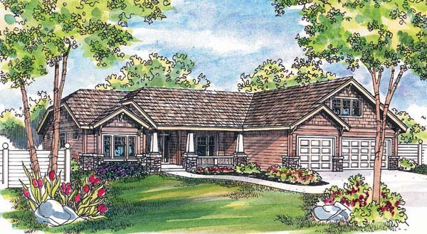 Bungalow Craftsman House Plan 69131 Elevation