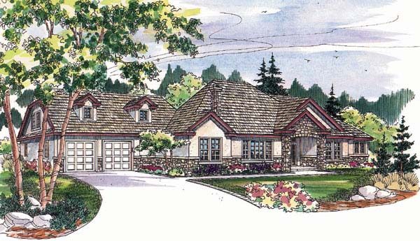 Traditional Tudor House Plan 69133 Elevation