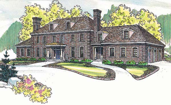 Colonial Southern House Plan 69134 Elevation