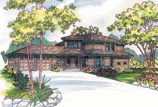 Contemporary House Plan 69135 Elevation