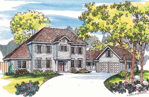 Colonial Southern House Plan 69136 Elevation