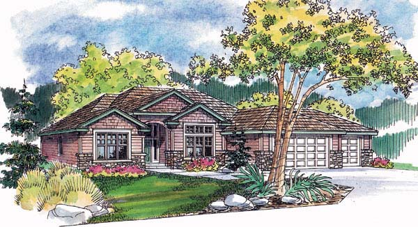 Traditional House Plan 69138 Elevation