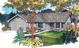 Ranch Traditional House Plan 69139 Elevation