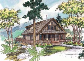 Country , Cabin House Plan 69144 with 3 Beds, 3 Baths Elevation
