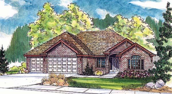 European Traditional House Plan 69146 Elevation