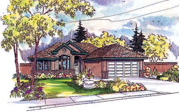 One-Story, Traditional House Plan 69147 with 3 Beds, 2 Baths, 2 Car Garage Elevation