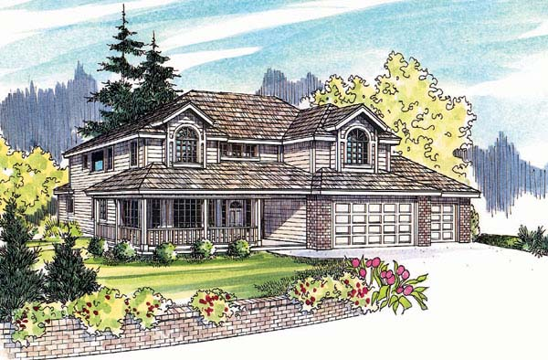 Country House Plan 69148 Elevation