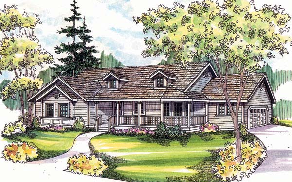 Country House Plan 69149 Elevation