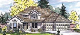European House Plan 69150 Elevation