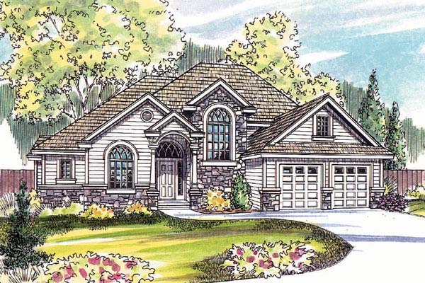 European House Plan 69152 Elevation