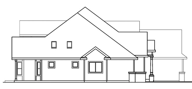 European House Plan 69152 with 3 Beds, 3 Baths, 3 Car Garage Picture 1