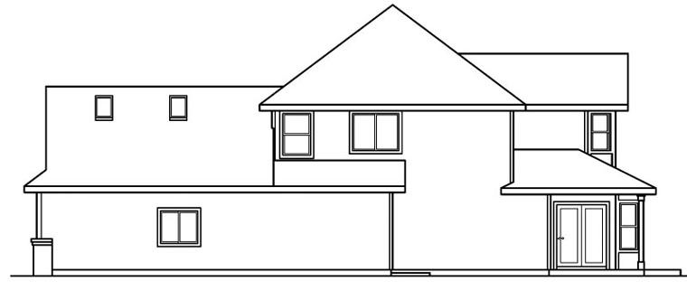 European House Plan 69152 with 3 Beds, 3 Baths, 3 Car Garage Picture 2