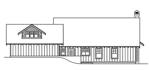 Bungalow Cape Cod Country House Plan 69154 Rear Elevation