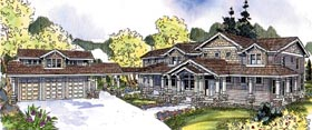 Bungalow Cape Cod Country Craftsman House Plan 69156 Elevation