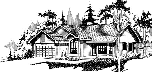 Ranch House Plan 69161 Elevation