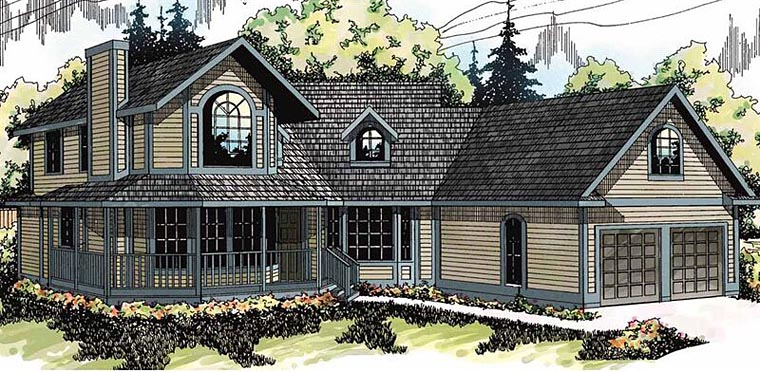 Country Farmhouse House Plan 69162 Elevation