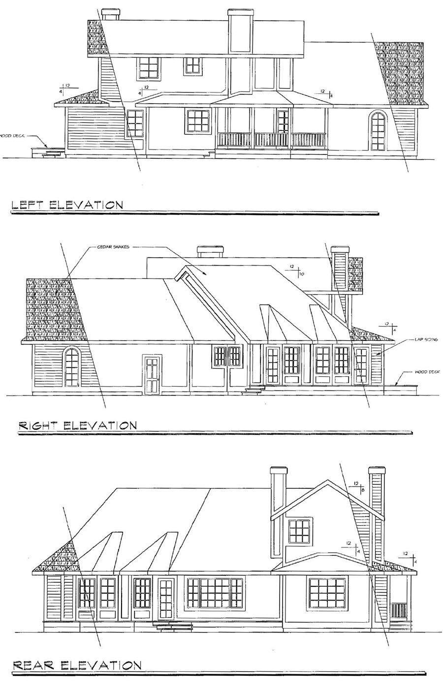 Country Farmhouse House Plan 69162 Rear Elevation