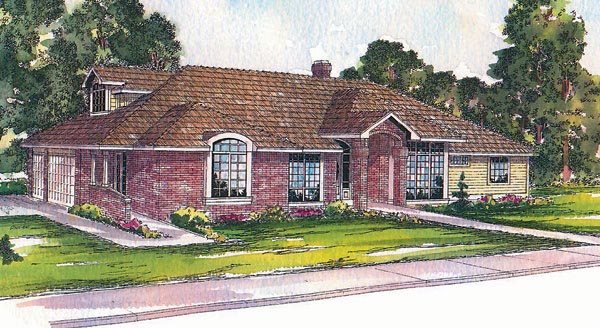 Traditional House Plan 69164 Elevation