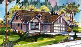 Contemporary Cottage Country Traditional House Plan 69167 Elevation
