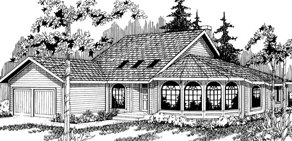Contemporary House Plan 69168 Elevation