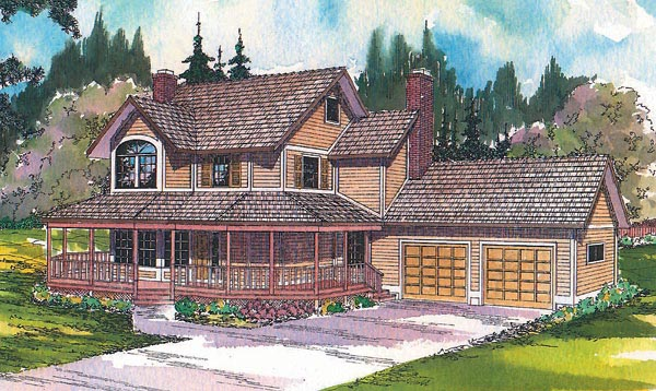 Country Farmhouse House Plan 69170 Elevation