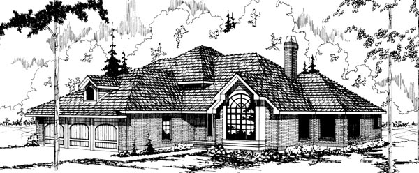 Traditional House Plan 69171 Elevation