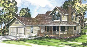 Country Farmhouse House Plan 69172 Elevation