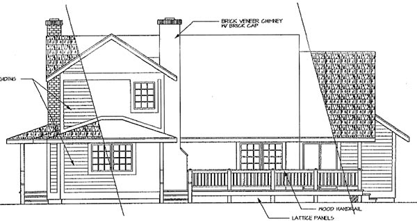 Country Farmhouse House Plan 69172 Rear Elevation