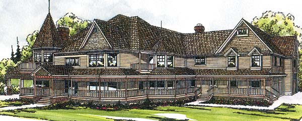 Farmhouse Victorian House Plan 69174 Elevation