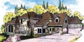 Mediterranean , Traditional House Plan 69177 with 4 Beds, 3.5 Baths, 3 Car Garage Elevation