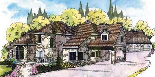 Mediterranean Traditional House Plan 69177 Elevation