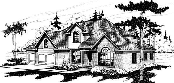 Traditional House Plan 69178 with 5 Beds, 2.5 Baths, 2 Car Garage Elevation