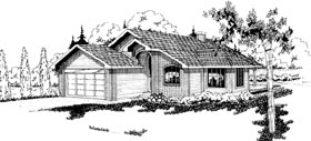 House Plan 69179 | Ranch Style Plan with 1655 Sq Ft, 4 Bedrooms, 2 Bathrooms, 2 Car Garage Elevation