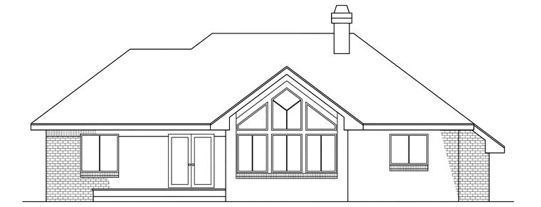 Contemporary House Plan 69181 Rear Elevation