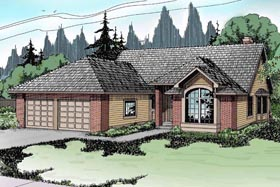 House Plan 69183 | Traditional Style Plan with 1790 Sq Ft, 3 Bedrooms, 2 Bathrooms, 2 Car Garage Elevation