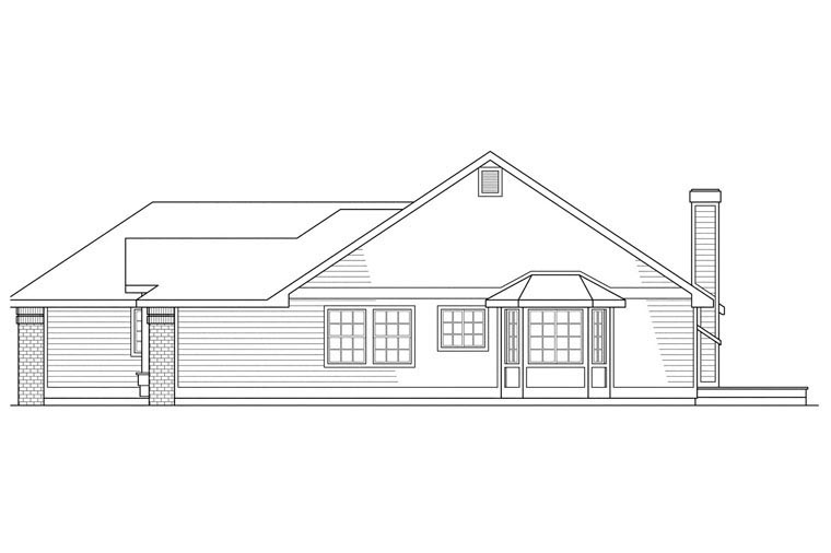 Traditional House Plan 69183 Rear Elevation