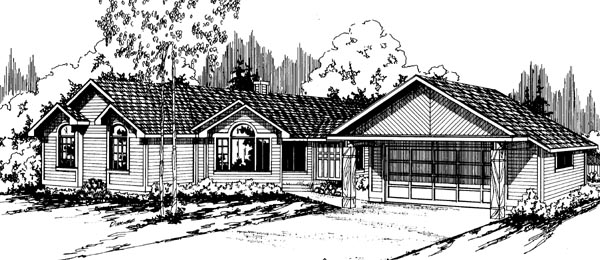 Ranch Traditional House Plan 69184 Elevation