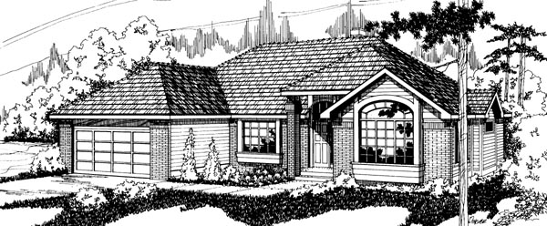 Traditional House Plan 69185 Elevation