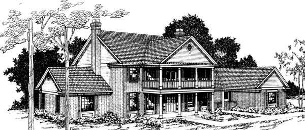 Colonial Country House Plan 69186 Elevation