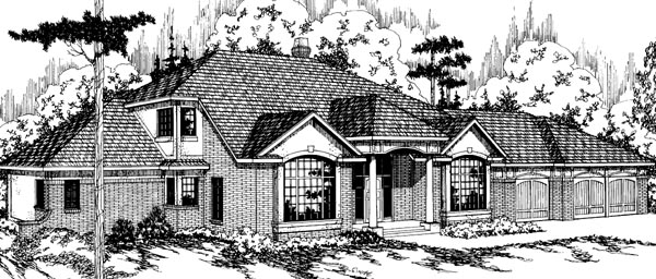 Traditional House Plan 69188 Elevation
