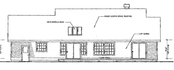 Country House Plan 69189 Rear Elevation