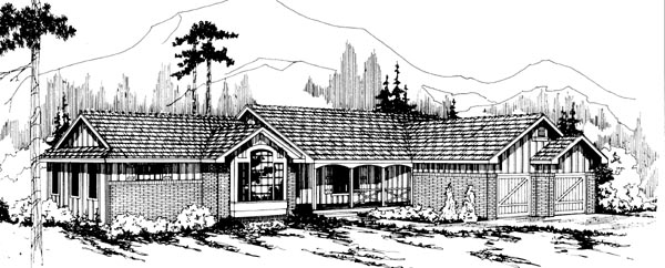 Ranch House Plan 69192 Elevation