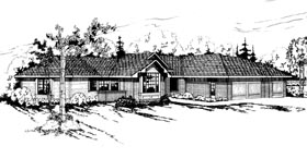 Ranch House Plan 69193 Elevation